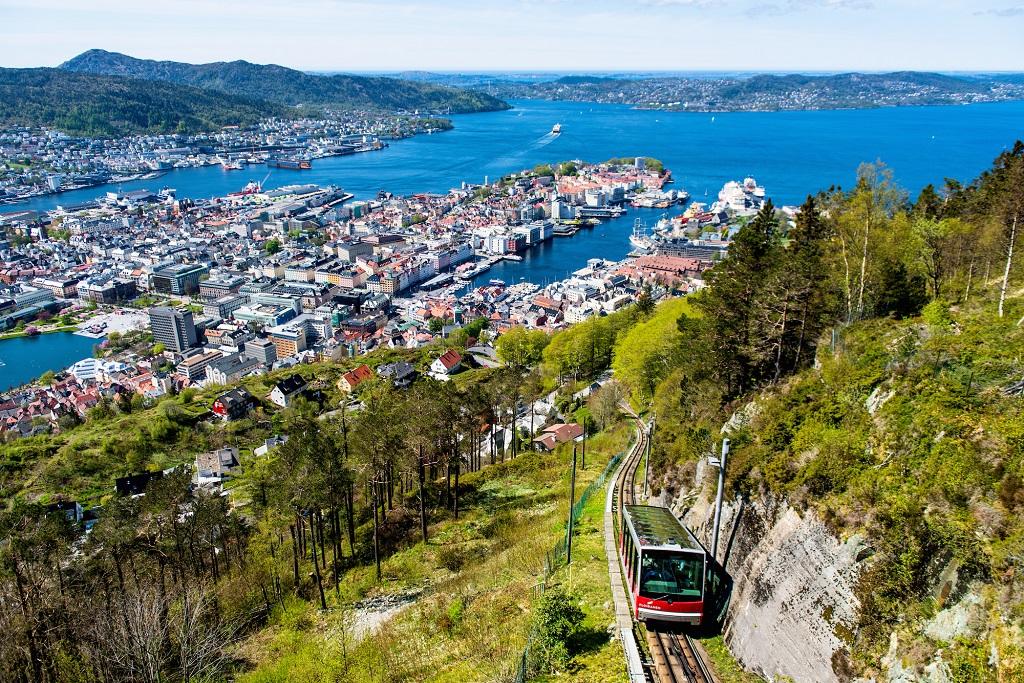 norveç bergen floyen dağı teleferik