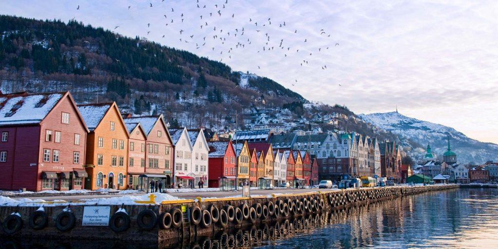 norveç bergen rıhtımı